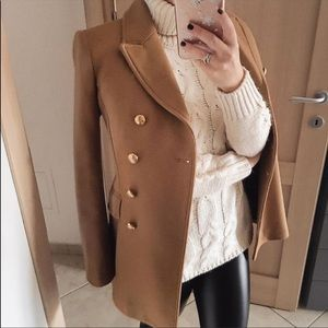 Zara wool coat bloggers favorite